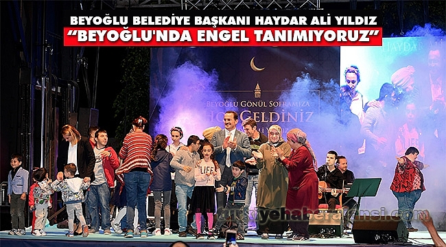 Engelli Vatandaşlar Taksim Meydanı'nda İftarda Buluştu
