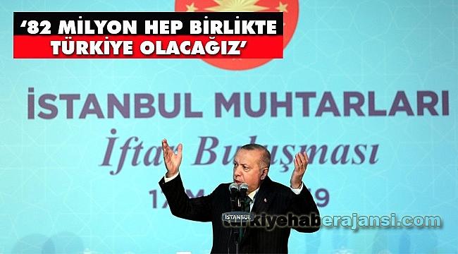 Erdoğan, İstanbul Muhtarları ile İftar Programına Katıldı