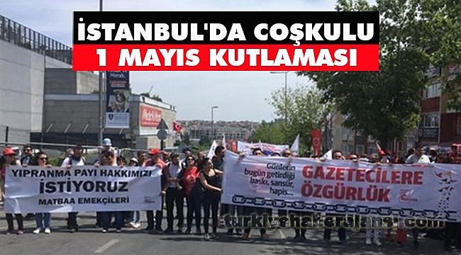 İstanbul'da Coşkulu 1 Mayıs Kutlaması