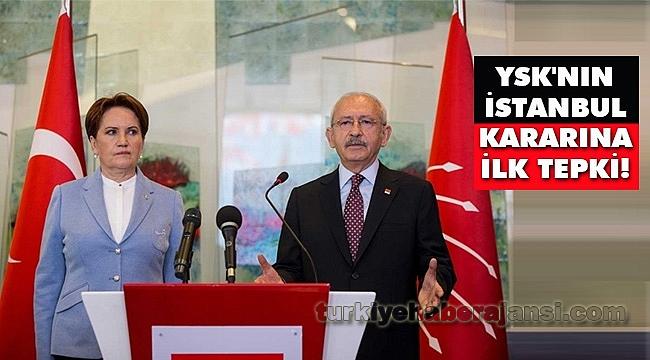 Kemal Kılıçdaroğlu'ndan YSK'nın İstanbul Kararına İlk Tepki!