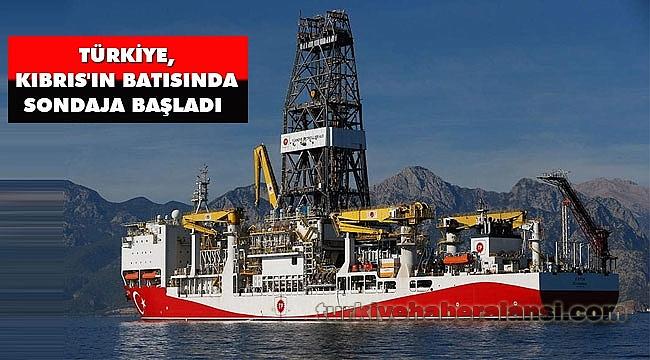 Türkiye, Kıbrıs'ın batısında sondaja başladı