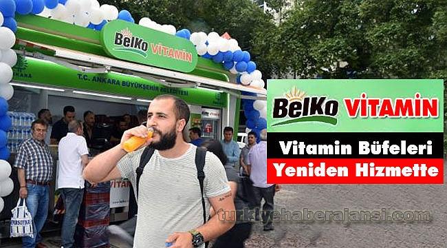 BELKO Vitamin Büfeleri Yeniden Hizmette