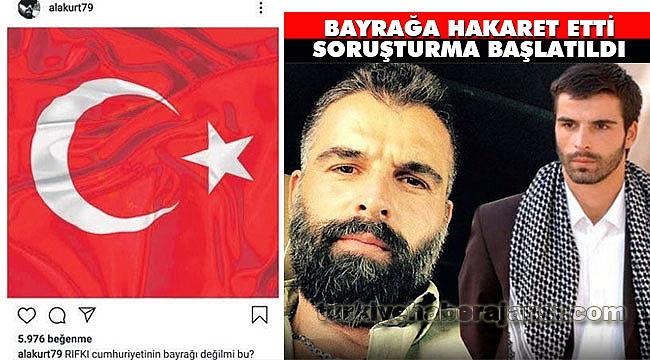 Mehmet Akif Alakurt'aTürk Bayrağına Hakaretten Soruşturma