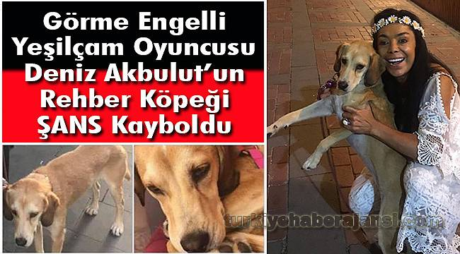 Görme Engelli Oyuncu Deniz Akbulut'un Rehber Köpeği Kayboldu