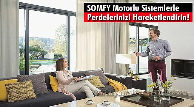 SOMFY Motorlu Sistemlerle Perdelerinizi Hareketlendirin!