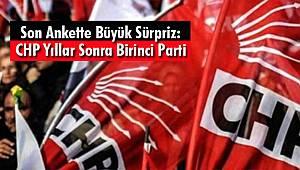 Son Ankette Büyük Sürpriz: CHP Yıllar Sonra Birinci Parti