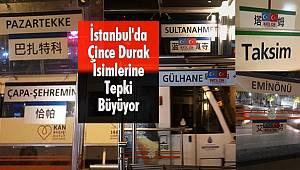 İstanbul'da Çince Durak İsimlerine Ülkücülerden Tepki