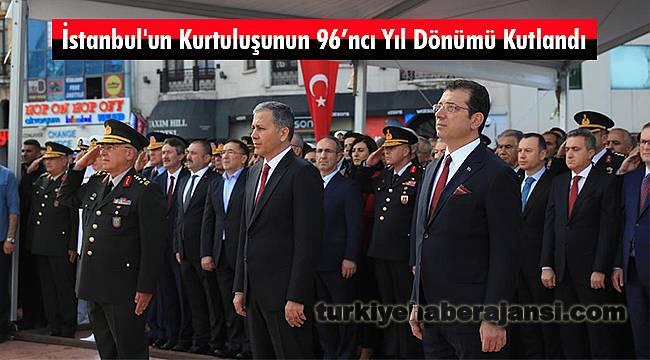 İstanbul'un Kurtuluşunun 96'ncı Yıl Dönümü Kutlandı