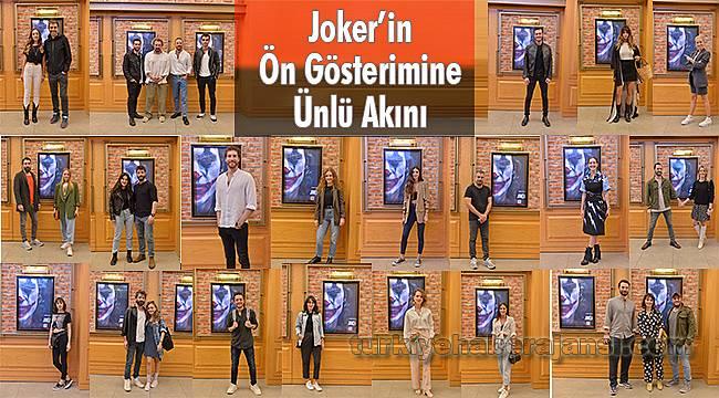 Joker'in Ön Gösterimine Ünlü Akını