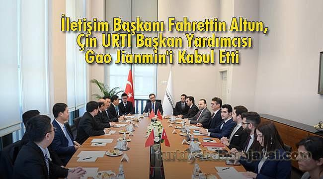 Fahrettin Altun, Çin URTİ Başkan Yardımcısı Gao Jianmin'i Kabul Etti