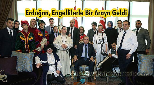 Cumhurbaşkanı Erdoğan, Engellilerle Bir Araya Geldi