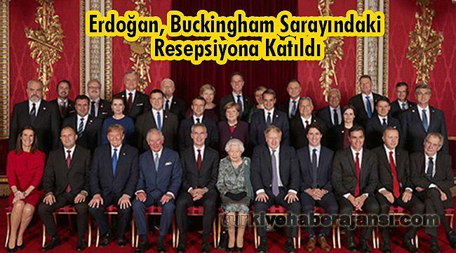 Erdoğan, Buckingham Sarayındaki resepsiyona katıldı