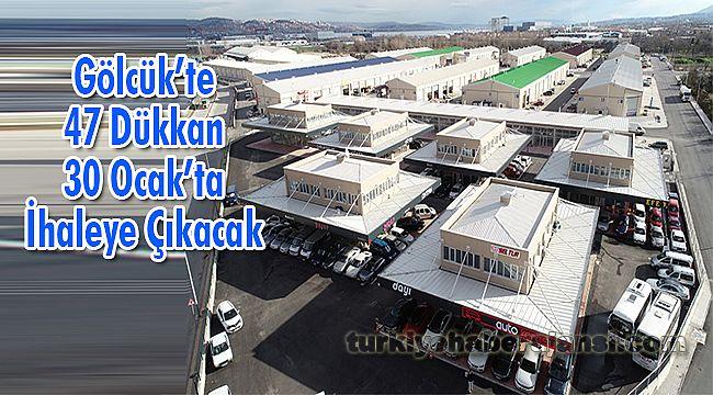 Gölcük'te 47 Dükkan 30 Ocak'ta İhaleye Çıkacak