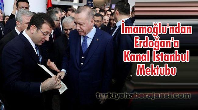 İmamoğlu'ndan Erdoğan'a Kanal İstanbul Mektubu