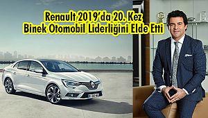 Renault 2019'da 20. Kez Binek Otomobil Liderliğini Elde Etti