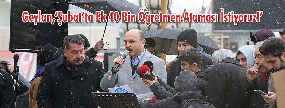 Türk Eğitim-Sen; 'Şubat'ta Ek 40 Bin Öğretmen Ataması İstiyoruz!'
