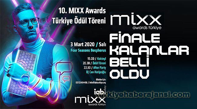 10. MIXX AWARDS Türkiye'de Finale Kalanlar Belli Oldu