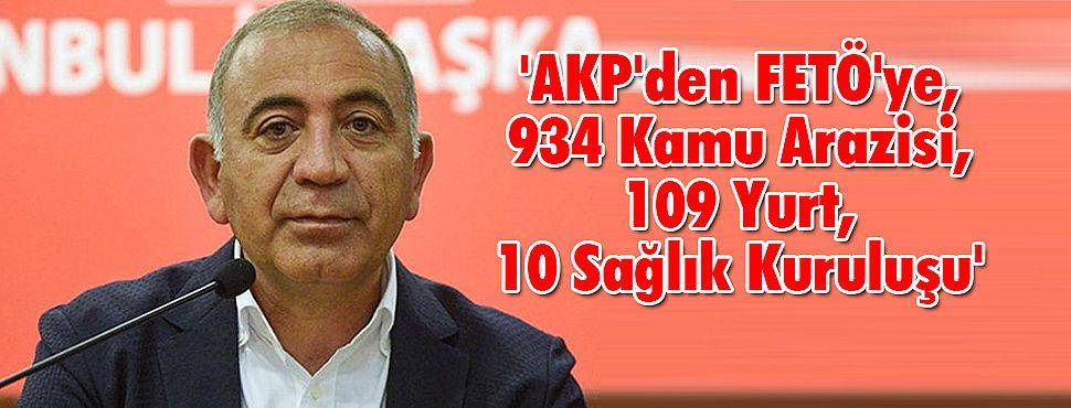 Tekin; 'AKP'den FETÖ'ye, 934 Kamu Arazisi, 109 Yurt, 10 Sağlık Kuruluşu'