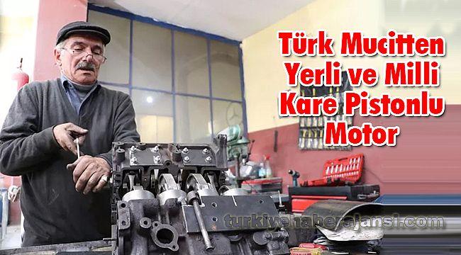 Türk Mucitten Yerli ve Milli Kare Pistonlu Motor