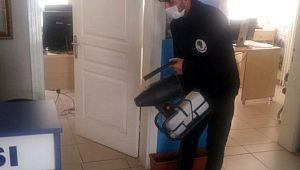 Ankara'da karakollar ve polis noktaları dezenfekte ediliyor