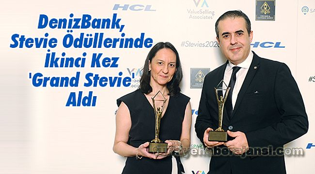 DenizBank, Stevie Ödüllerinde İkinci Kez 'Grand Stevie' Aldı