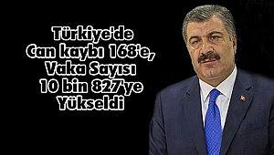 Türkiye'de Can kaybı 168'e, Vaka Sayısı 10 bin 827'ye Yükseldi