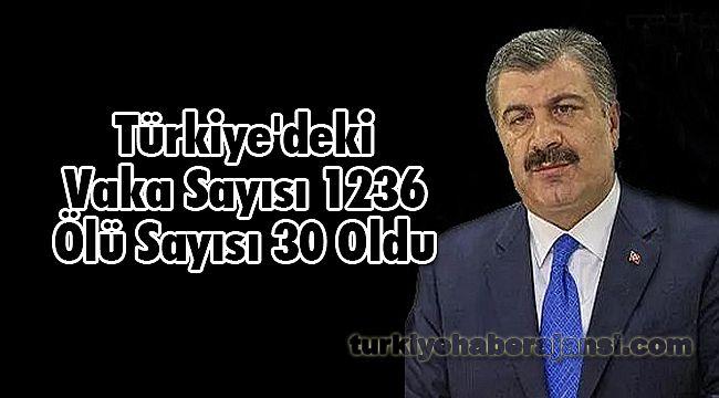 Türkiye'deki Vaka Sayısı 1236 Ölü Sayısı 30 Oldu