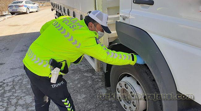 Ülke genelinde 45 bin araca kış lastiği denetimi