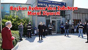 Başkan Aydıner'den Zabıtaya Moral Ziyareti