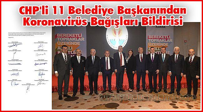 CHP'li 11 Belediye Başkanından Koronavirüs Bağışları Bildirisi