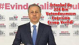 'İstanbul'da 326 Bin Vatandaşımızın Çağrısına Cevap Verildi'