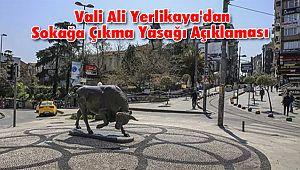 Vali Ali Yerlikaya'dan Sokağa Çıkma Yasağı Açıklaması