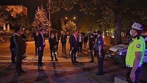 Bakan Soylu, polis kontrol noktasını ziyaret etti