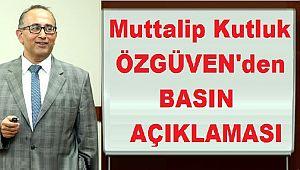 Prof. Doktor Kutluk ÖZGÜVEN'dan Basın Açıklaması: