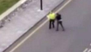 Trafik polisine saldıran zanlı yakalandı