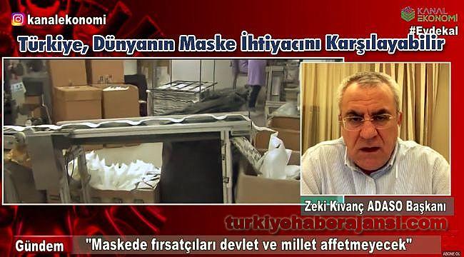 Türkiye, Dünyanın Maske İhtiyacını Karşılayabilir