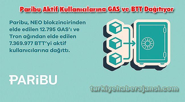 Paribu Aktif Kullanıcılarına GAS ve BTT Dağıtıyor
