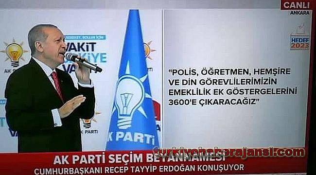Polislere 3600 için Başkan Erdoğan'a şiirle seslendi