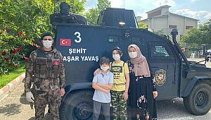 Şehit polisin oğlu Miraç'ı duygulandıran SÜRPRİZ