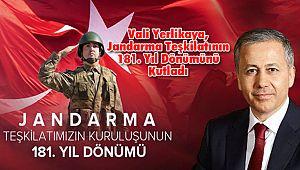 Vali Yerlikaya, Jandarma Teşkilatının 181. Yıl Dönümünü Kutladı