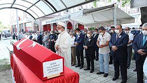 Genel Müdür,şehit polisin cenaze törenine katıldı
