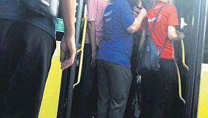 Metrobüste kadın polise CİNSEL TACİZ