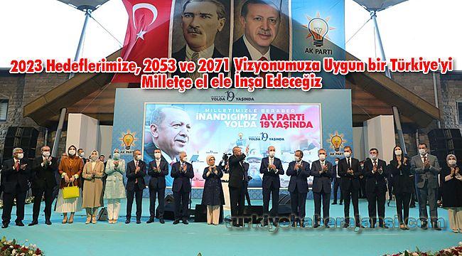 2023 Hedeflerimize, 2053 ve 2071 Vizyonumuza Uygun bir Türkiye'yi Milletçe el ele İnşa Edeceğiz