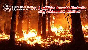 81 İl Valiliğine Ormanlık Alanlarda Ateş Yakılmaması Genelgesi