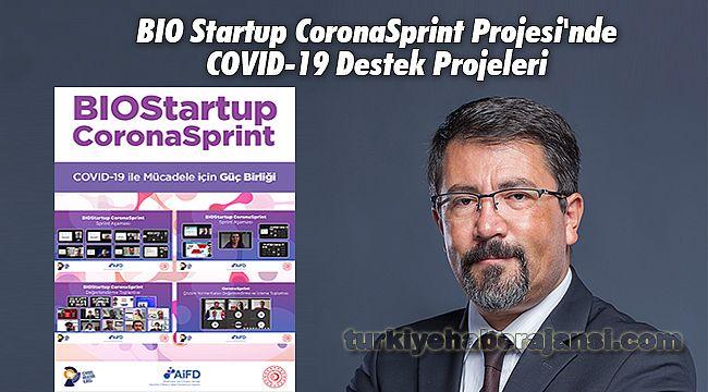 BIO Startup CoronaSprint Projesi'nde COVID-19 Destek Projeleri
