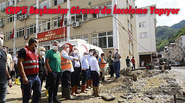 CHP'li Başkanlar Giresun'da İnceleme Yapıyor
