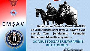 EMŞAV Başkanı Yılmaz'dan 30 Ağustos Kutlama mesajı