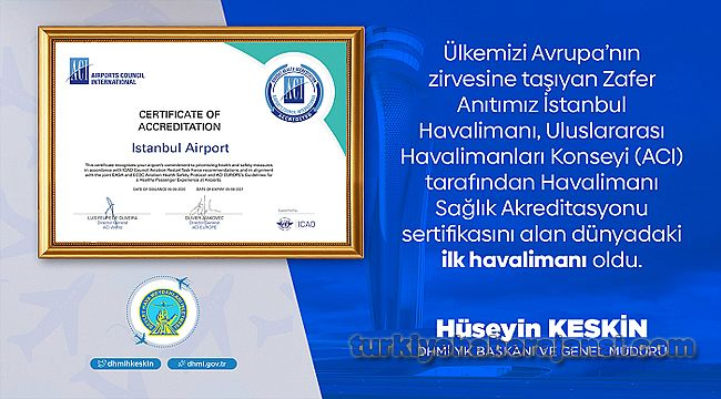 İstanbul Havalimanı'na Uluslararası Sağlık Akreditasyonu