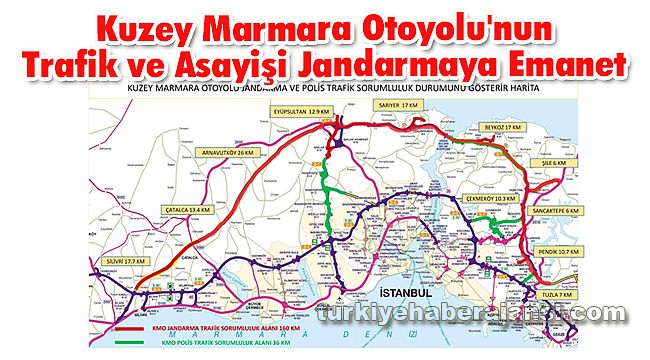 Kuzey Marmara Otoyolu'nun Trafik ve Asayiş'i Jandarmaya Emanet