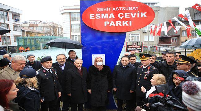 Şehit Esma Çevik Parkı'na Özel Bakım Yapılıyor